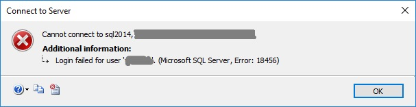 Microsoft SQL Server Management Studio Error 4064